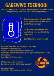 GaReWiVo toernooi @ Veerhuis